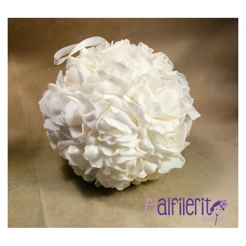 Bouquet mediano de rosas blancas