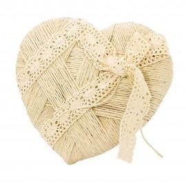 Portaalianzas corazón con cuerda