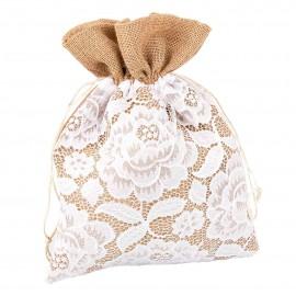 Limosnera de tela arpillera